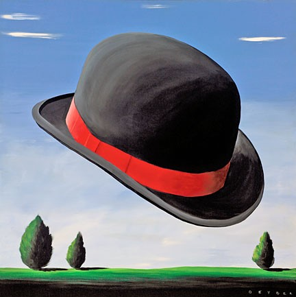 Robert Deyber At The Drop Of A Hat 1 hand-crafted stone lithograph