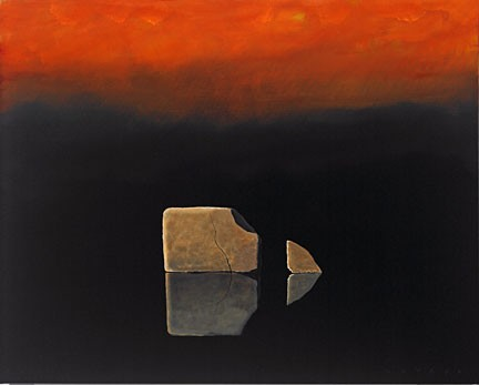 Robert Deyber Another Chip Off The Old Block hand-crafted stone lithograph
