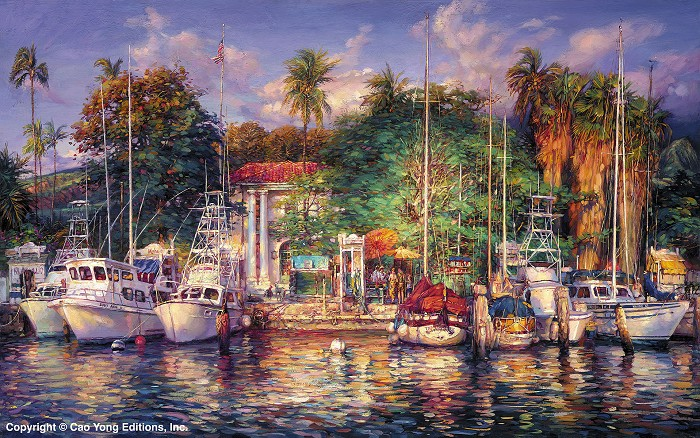 Cao Yong Lahaina Afternoon Giclee On Canvas The Hawaii Series
