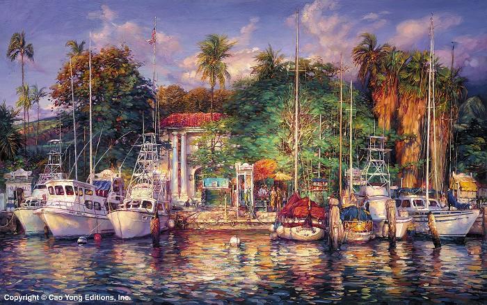 Cao YongLahaina AfternoonGiclee On Canvas The Hawaii Series