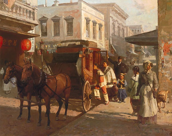 Mian Situ Pacific Carriage Co. San Francisco 1905 MASTERWORK EDITION ON Canvas