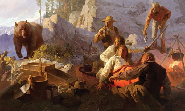 Mian Situ The Intruder Angels Camp California 1849 MASTERWORK EDITION ON Canvas