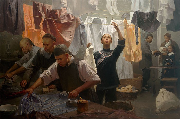 Mian Situ Chinese Laundry MASTERWORK EDITION ON Canvas