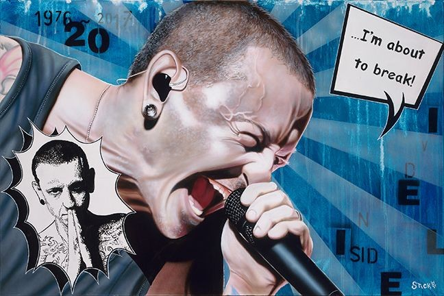 StickmanI'm About To Break - Chester Bennington/Linkin ParkGiclee On Canvas Artist Proof Hand Embellished