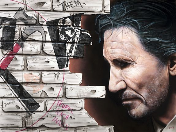 StickmanI Don't Think I Need Anything at All - Roger Waters - Pink Floyd-Giclee On Canvas Artist Proof Hand Embellished
