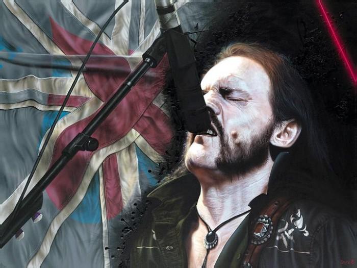 StickmanHey Babe Don't Act So Scared - Lemmy KilmisterGiclee On Canvas