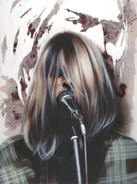 StickmanCome as you are - Kurt CobainGiclee On Canvas