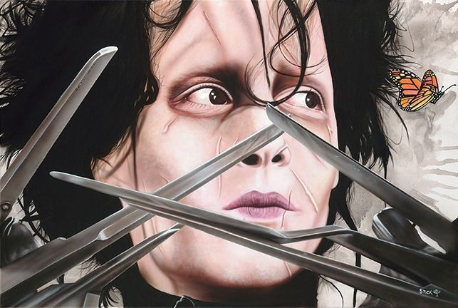 Stickman I Am Not Complete - Edward Scissorhands Giclee On Canvas