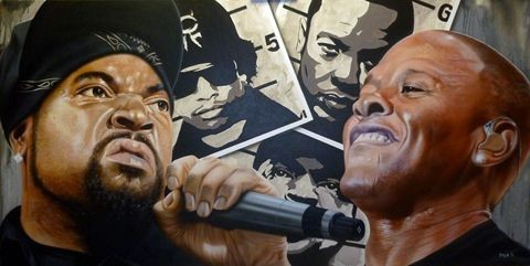 StickmanYo, Dre I Got Something to Say - Ice Cube/Dr DreGiclee On Canvas