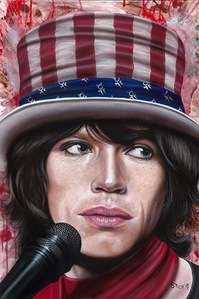 Stickman Hope You Guess My Name - Mick Jagger Giclee On Canvas