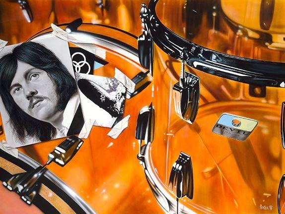 StickmanHammer of the Gods - Jon Bonham-Led Zepplin-Giclee On Canvas Artist Proof Hand Embellished