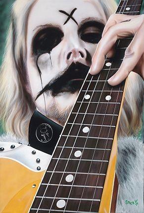 StickmanI Am - John 5Giclee On Canvas