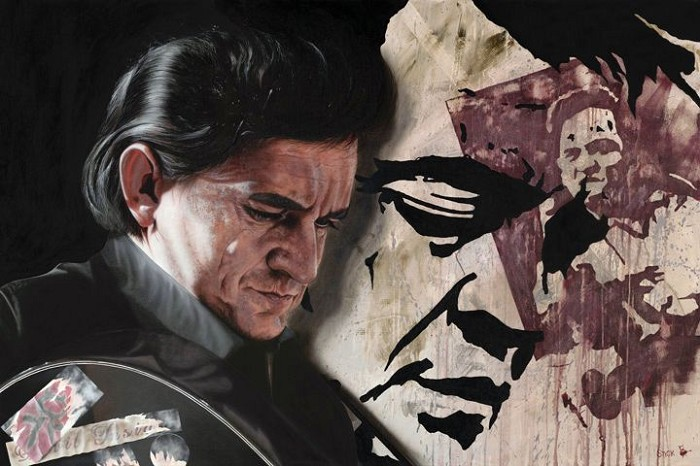 StickmanHe Said John Go Do My Will - Johnny CashGiclee On Canvas