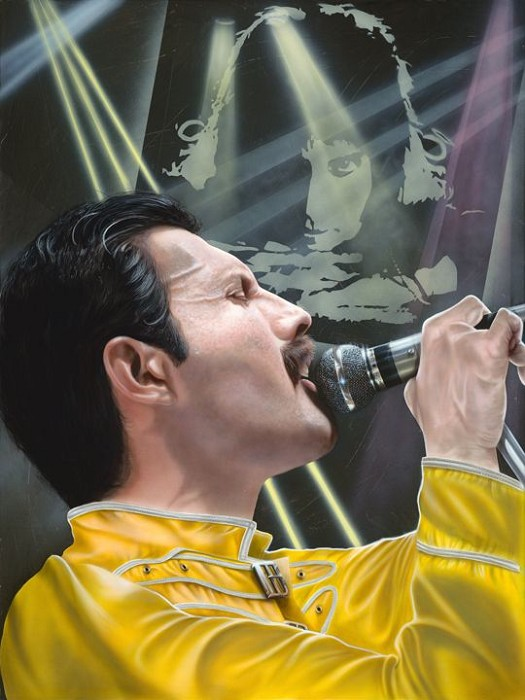 StickmanLook Up to the Skies and See - Freddie MercuryGiclee On Canvas