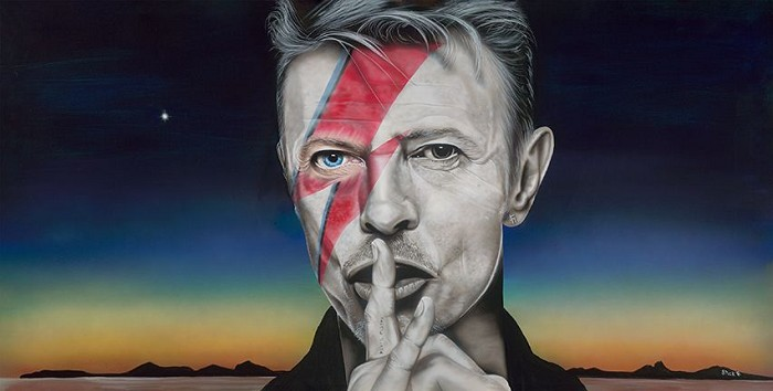 StickmanLook Out Your Window I Can See His Light - David BowieGiclee On Canvas