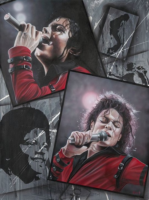 Stickman The Way You Make Me Feel - Michael Jackson Giclee On Canvas