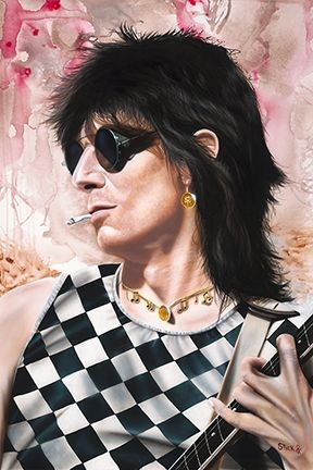 Stickman Stole Many a Man's Soul to Waste - Ronnie Wood Giclee On Canvas
