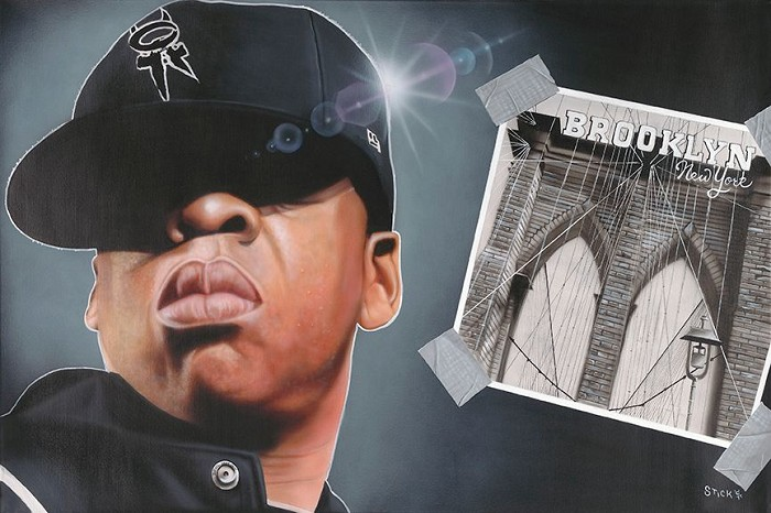 StickmanFrom Marcy To Madison Square - Jay-ZGiclee On Canvas Artist Proof Hand Embellished