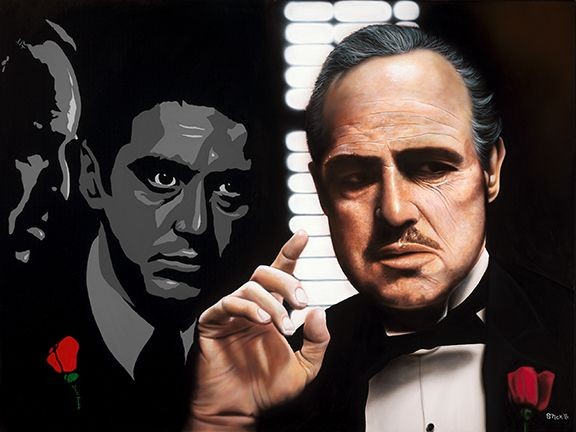 Stickman Offer You Can't Refuse - The Godfather -Giclee On Canvas Artist Proof Hand Embellished