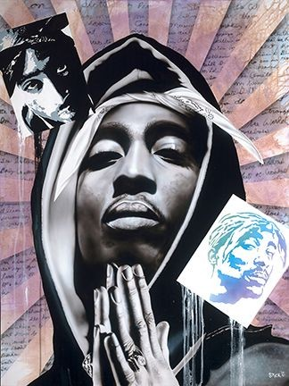 StickmanCan You Picture My Prophecy - Tupac ShakurGiclee On Canvas Artist Proof Hand Embellished