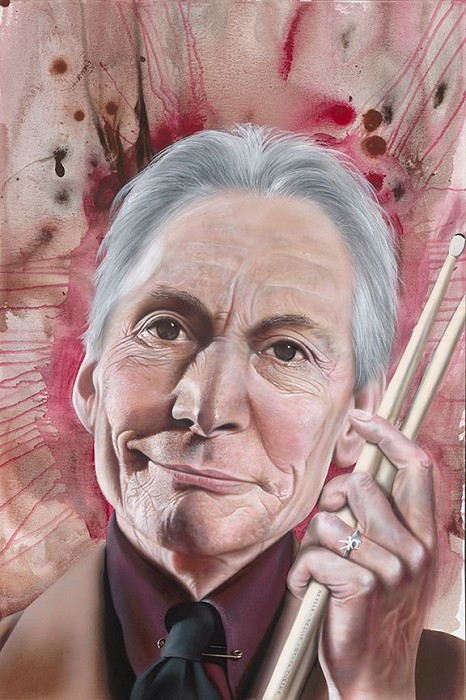 Stickman What's Puzzlin' You is the Nature of My Game - Charlie Watts Giclee On Canvas
