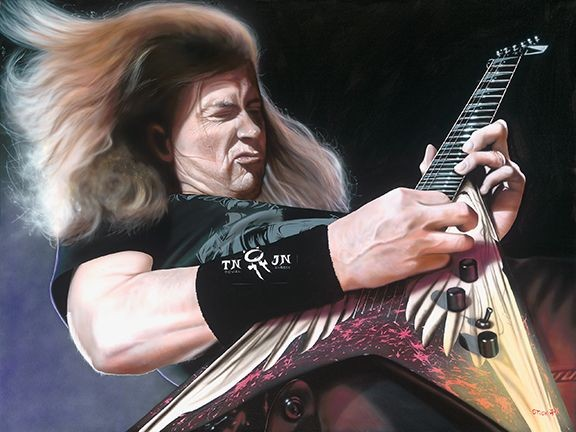 StickmanHello Me - Meet the Real Me - Dave Mustaine - MegadeathGiclee On Canvas