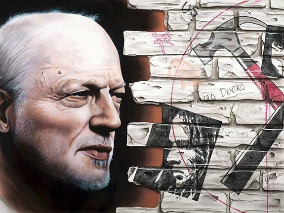Stickman I Have Seen the Writing On the Wall - David Gilmour - Pink Floyd Giclee On Canvas