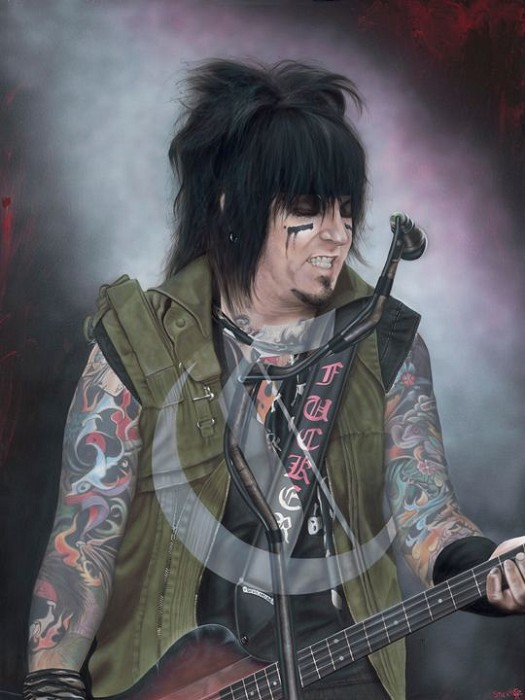 StickmanSome Say It Was Suicide - Nikkie Sixx Giclee On Canvas
