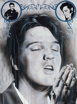 StickmanHow Sweet The Sound - ElvisGiclee On Canvas