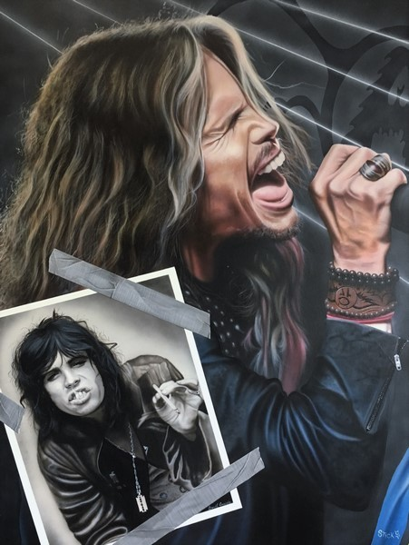 StickmanIt Went By like Dusk Till Dawn - Steven TylerGiclee On Canvas