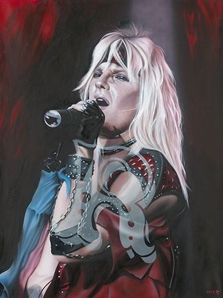 StickmanHe's The Wolf Screaming Lonely in The Night Vince Neil of Motley CrueGiclee On Canvas