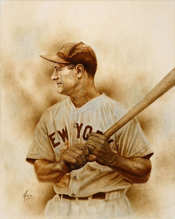 Mike Kupka Gehrig Original Oil on Canvas