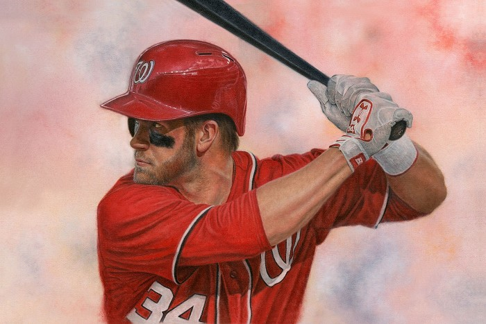 Mike Kupka Bryce Harper Original Oil on Canvas