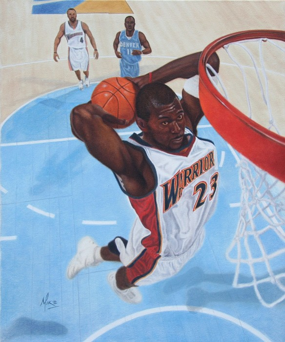 Mike Kupka Jason Richardson (Basket Ball) Original Oil on Canvas