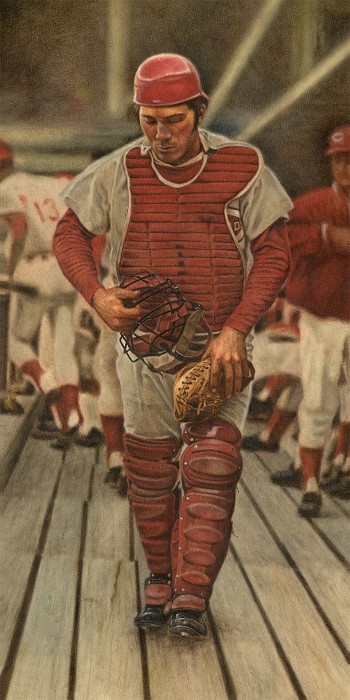 Mike Kupka Johnny Bench Original Oil on Canvas
