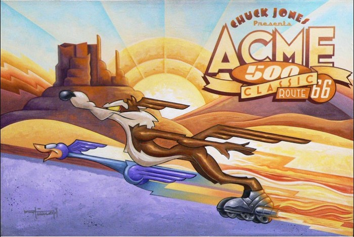 Mike Kungl Acme 500 Giclee On Canvas