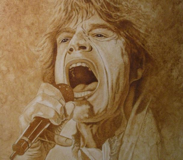 Mike Kupka Mick Jagger Original Oil on Canvas