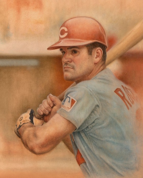 Mike Kupka Pete Rose Original Oil on Canvas