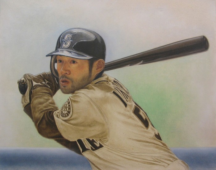 Mike Kupka Ichiro Suzuki Original Oil on Canvas