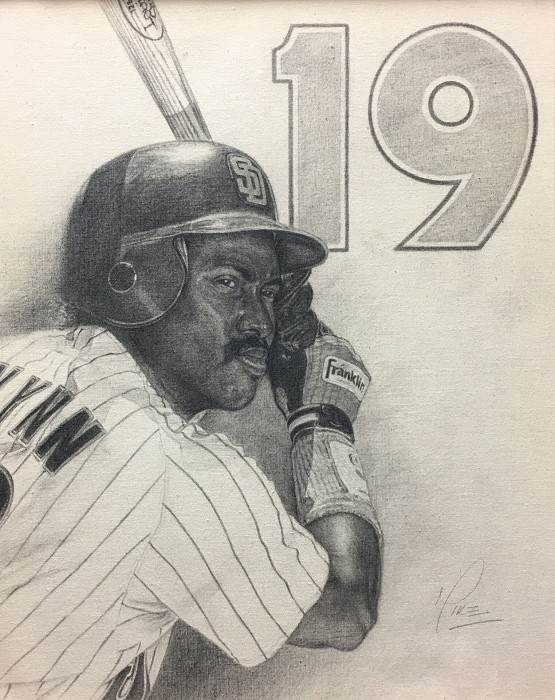 Mike Kupka Tony Gwynn Graphite on Canvas