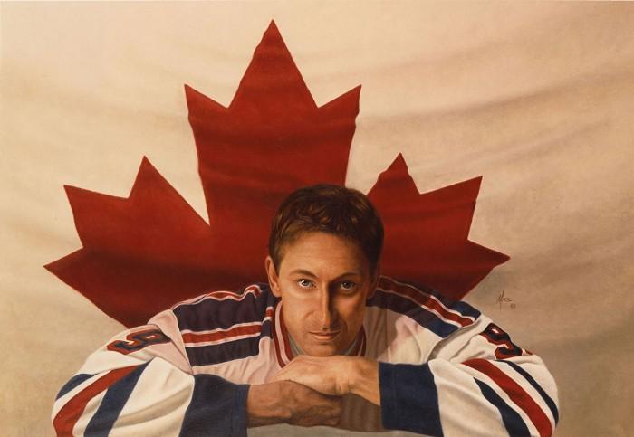 Mike KupkaWayne Gretzky - Oil on Illustration