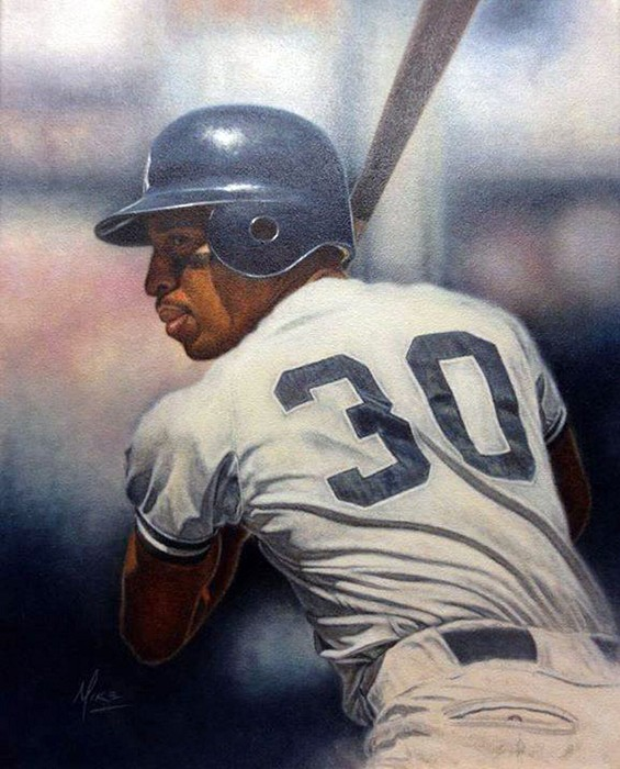 Mike Kupka Willie Randolph Original Oil on Canvas