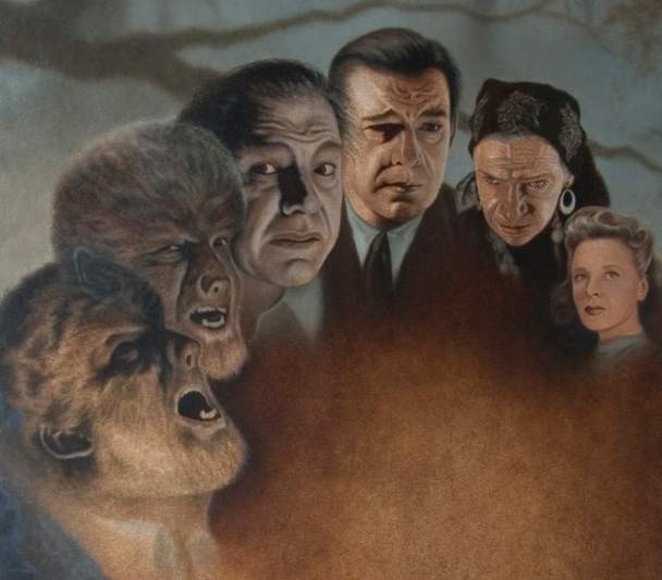 Mike KupkaThe Wolfman Oil on Illustration Board
