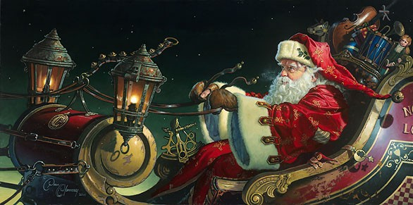 Dean Morrisey Father Christmas The Sleigh Ride Canvas