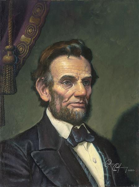 Dean MorriseyStudy for Abraham Lincoln The Great EmancipatorCanvas
