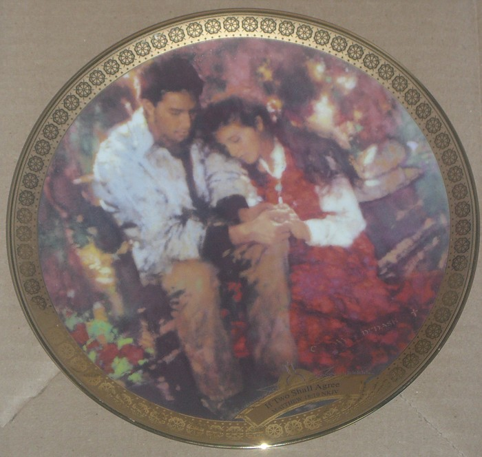 C. Michael Dudash If Two Shall Agree Limited Edition Plate