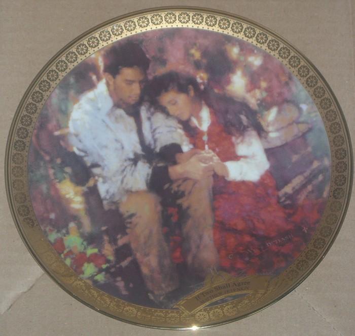 C. Michael DudashIf Two Shall Agree Limited Edition Plate