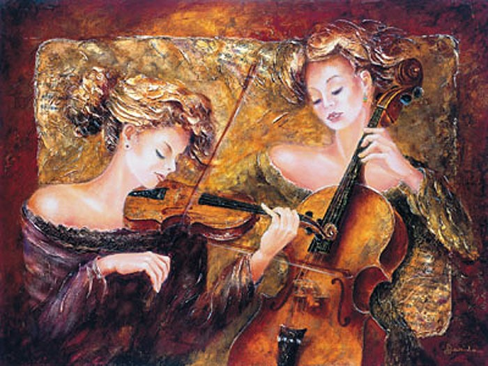 Alexandru Darida CONCERTINO II Giclee On Canvas