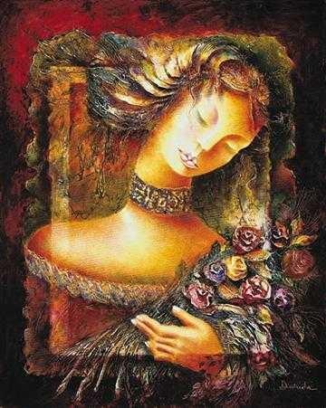 Alexandru DaridaLa Donna Con FioriGiclee On Canvas