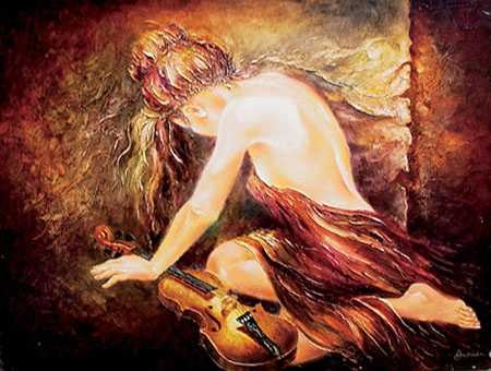 Alexandru Darida Musical Healing Giclee On Canvas